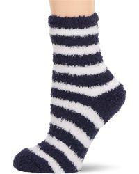 Splendid Super Soft Cozy Fluffy Warm Lounge Chenille Sock - Blue