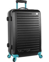 Nautica Hardside Spinner Wheels Luggage-28 Inch Expandable Large Suitcase - Black