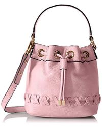 MILLY - Astor Whipstich Small Drawstring Cross-body Bag - Lyst
