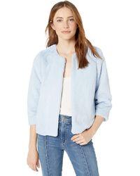 Kensie Luxe Faux Fur Jacket - Blue