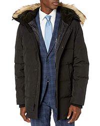 Vince Camuto Down Warm Winter Coat Parka - Black