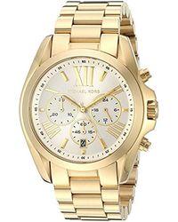 Michael Kors - Bradshaw Gold-tone Watch Mk6266 - Lyst