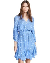 Shoshanna Smocked And Loose Fit - Blue