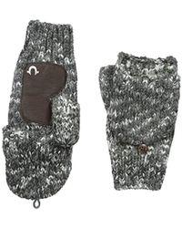 True Religion - Multi Colored Knit Mittens - Lyst