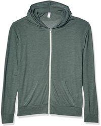 Alternative Apparel - Zip Hoodie Sweatshirt - Lyst