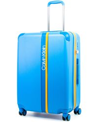 Calvin Klein Obsessed Hardside Spinner Luggage With Tsa Lock - Blue