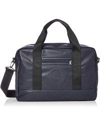 Armani Exchange   Circulr Embossed Logo Duffle Bg - Blue
