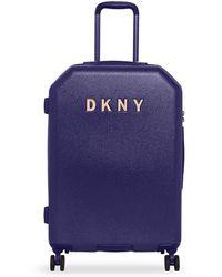 DKNY Metal Logo Hardside Spinner Luggage With Tsa Lock - Blue