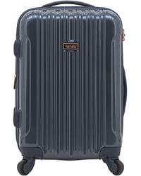 "Kensie 3 Piece ""alma"" Light Metallic Style Tsa-lock Spinner Luggage Set - Blue"