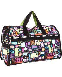 LeSportsac Large Duffle Bag,high Five,one Size - Black