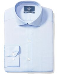 Buttoned Down Tailored Fit Cutaway-collar Solid Non-iron Dress - Blue