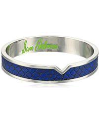Sam Edelman - Leather V Bangle Bracelet - Lyst
