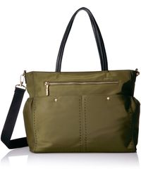 MILLY Solid Stitch Diaper Bag - Green