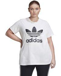 adidas Originals Womens Trefoil Tee White/black 1x