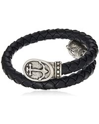 ALEX AND ANI - S Anchor Braided Leather Wrap Bracelet - Lyst