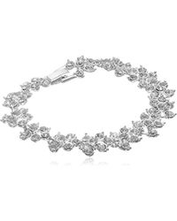 "Anne Klein - Silver Tone And Crystal Flex Bracelet, 7.5"" - Lyst"