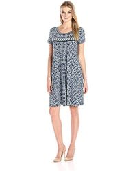 Lark & Ro - Short Sleeve Scoop Neck T-shirt Dress - Lyst