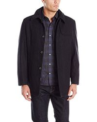 Tommy Hilfiger Bergen Single Breasted Top Coat With Gun Patch