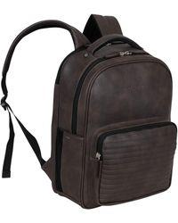 Kenneth Cole On Track Pack Veganes Leder 15,6 Zoll Laptop & Tablet Bookbag Anti-Diebstahl RFID Rucksack für Schule - Braun