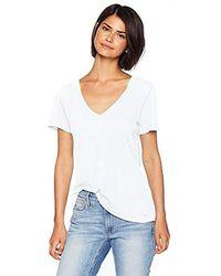 n:PHILANTHROPY Casual V-neck Tee Shirt - White