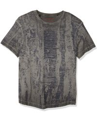 Buffalo David Bitton Short Sleeve Single Jersey With Reverse Cold Pigment - Gray