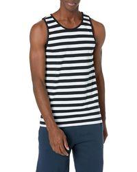Amazon Essentials Regular-fit Tank Top, Black/white, Large
