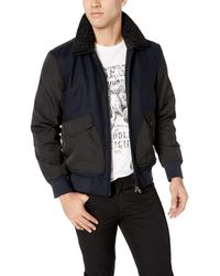 William Rast Blake Wool Bomber Jacket - Blue