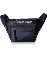Calvin Klein Tabbie Nylon Organizational Fanny Pack - Blue