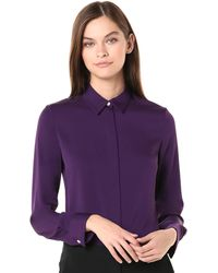 Theory Classic Fitted Shirt - Purple
