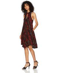 Volcom Fresh Allover Print High Necked Shift Dress - Multicolor