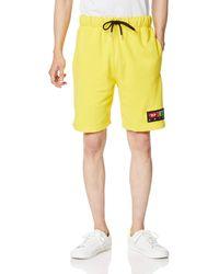 DIESEL PAN Drawstring Sweat-Shorts Pyjamahose - Gelb