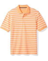 Amazon Essentials Regular-fit Cotton Pique Polo Shirt - Orange