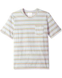 Billy Reid - Line Drawn Stripe Pocket T-shirt - Lyst