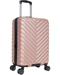 Kenneth Cole Reaction Madison Square Hardside Chevron Expandable Luggage - Pink