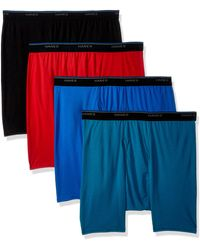 Hanes 4-pack Comfortblend Boxer Brief With Freshiq - Blue