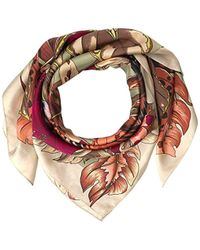 Vince Camuto Queen Of The Jungle Printed Silk Square - Pink