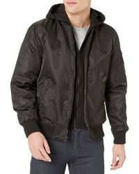 Guess Hooded Bomber Jacket - Black