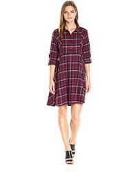 BCBGeneration - Plaid Shirt Dress - Lyst