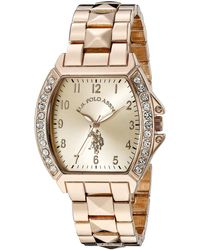 U.S. POLO ASSN. Usc40074 Rose Gold-tone Bracelet Watch - Metallic