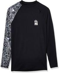 Quiksilver Ma Kai Ls Long Sleeve Rashguard Surf Shirt - Black