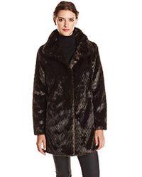 Ellen Tracy - Outerwear Faux-fur Coat - Lyst