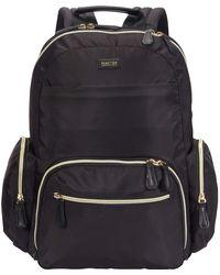 "Kenneth Cole Reaction Sophie Backpack Silky Nylon 15"" Laptop & Tablet Rfid Bookbag For School - Black"