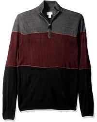 Dockers Quarter Zip Soft Acrylic Sweater - Black