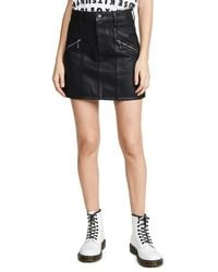 PAIGE Aideen Skirt With Zips - Black