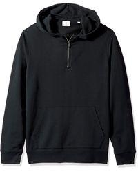 AG Jeans Lyle Quarter Zip Pullover Hoodie - Black