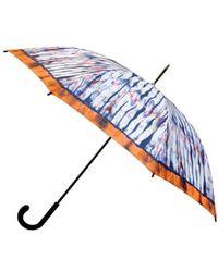 Nicole Miller 48 Inch Fashion Stick Umbrella - Blue