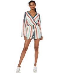 Cupcakes And Cashmere Caprice Printed Cdc Long Sleeve Romper - White