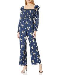 Ali & Jay Los Feliz Long Sleeve Floral Jumpsuit - Blue