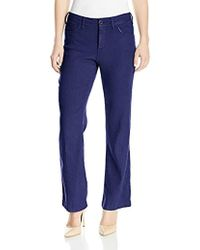 NYDJ - Petite Size Wylie Trousers In Stretch Linen, Repulique Navy, 4p - Lyst