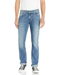 Hudson Jeans Jeans Byron Straight Leg Zip Fly Jeans - Blue